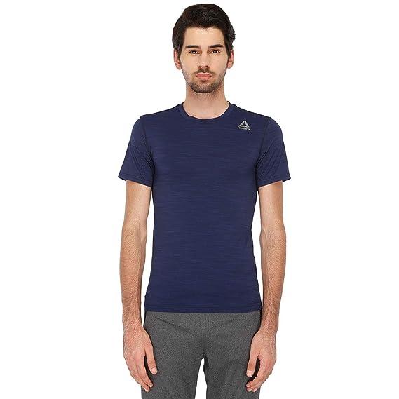 3dc83fcb18 Reebok Men's Plain Regular Fit T-Shirt: Amazon.in: Clothing ...