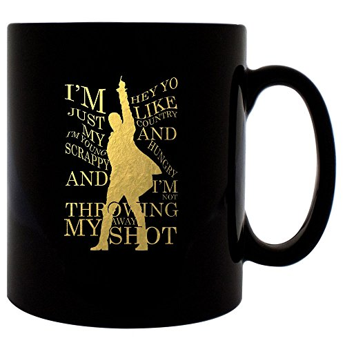 Alexander Hamilton Mug 11oz Ceramic Coffee Mug (Black)