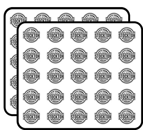 Stockton City USA Label Art Decor Sticker for Scrapbooking, Calendars, Arts, Kids DIY Crafts, Album, Bullet Journals 50 Pack]()