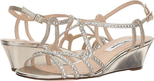 Nina Women's, Finola Mid Heel Sandals Platino 7.5 M