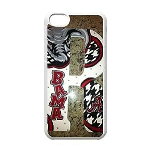 Alabama Crimson Tide iPhone 5c Cell Phone Case White yyfabc-480837
