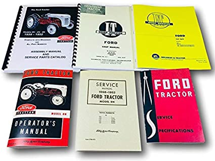 Manual Owners Ford 8N Tractor