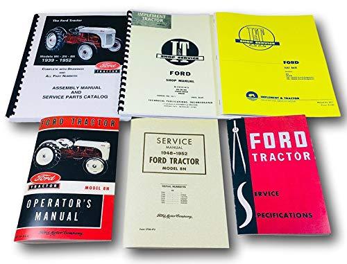 Lot 6 Ford 8N Tractor Manuals Shop Operators Parts Catalog Service Repair -
