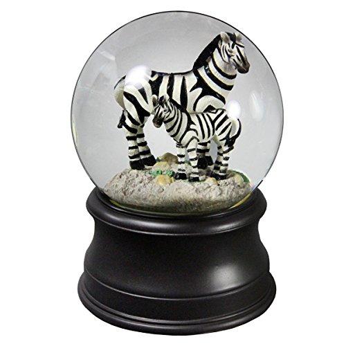 Zebra Mom Water Globe from San Francisco Music Box Company by The San Francisco Music Box Company