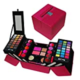 included CAMEO EXCLUSIVE MAKEUP GIFT SET B, 5 LAYERS OF EYESHADOWS, LIP-GLOSSES, POWDERS, BLUSHES, CREAMY FOUNDATION BRUSH AND MIRROR INCLUDED