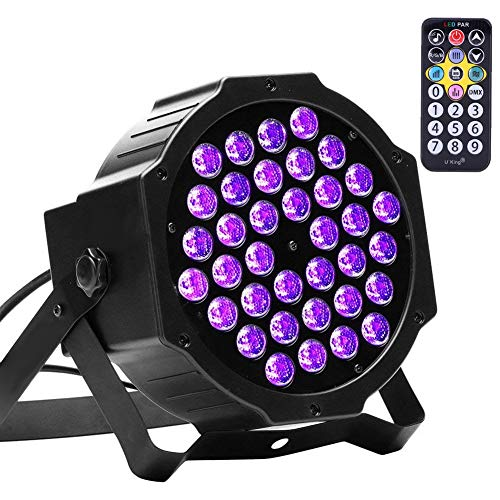 U`King 72W Black Lights UV LED Black Light Glow Effect by DMX Control for Blacklight Party Birthday Wedding DJ Stage Lighting