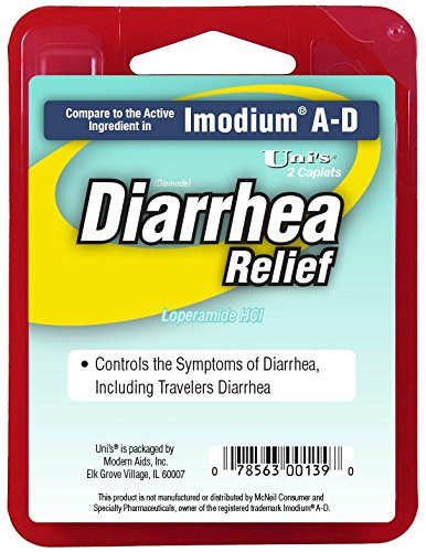 Diarrhea Relief Pills Compared to Imodium Medicine | 6 PK (2 Caplets/Sleeve) Manage Symptoms, Treatment for Bloating, Gas, Loose Stool by Modern Aids