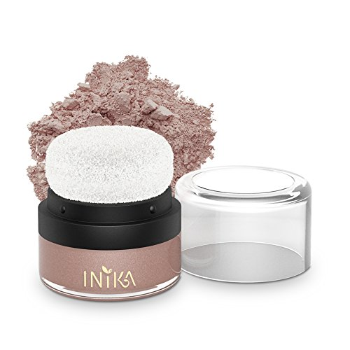 INIKA Mineral Blush Puff Pot, All Natural Loose Powder Make-Up, Flawless Coverage, Long Lasting, Water Resistant, Oil Free, Vegan 3g (0.10 oz) (Pink ()