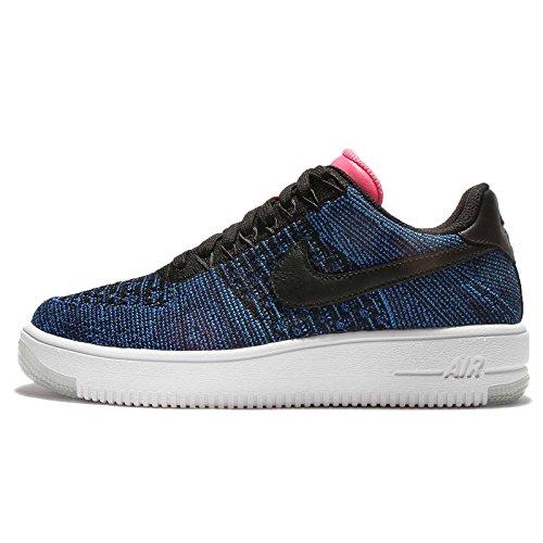 Nike Womens AF1 Flyknit Low Black/Black Dp Ryl Bl Dgtl Pnk Casual Shoe 6 Women US