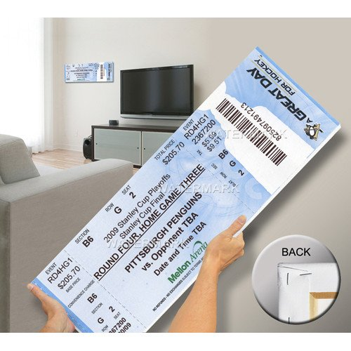 2009 Stanley Cup Mega Ticket - Pittsburgh Penguins - Licensed Pittsburgh Penguins Collectible