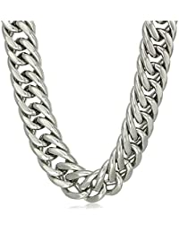 Men's Stainless Steel Heavy Solid Thick Cuban Necklace