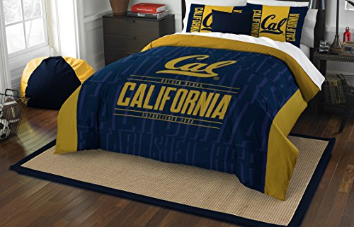 (The Northwest Company Officially Licensed NCAA California Golden Bears Modern Take Full/Queen Comforter and 2 Sham Set)