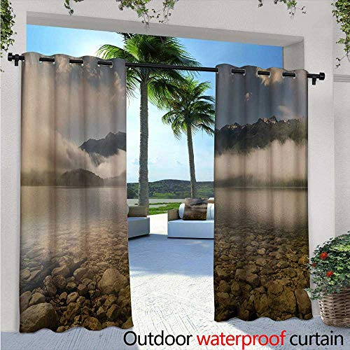 Crystal Gre Simple (Nature Outdoor- Free Standing Outdoor Privacy Curtain W96