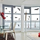 Window Alert Bird Stickers Silhouettes Glass Door Protection Save Birds, black - By