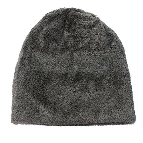 de de tapa Beanie gorro Slouchy marrón Negro punto Hombres invierno Hustar Gorro café ganchillo térmico sombrero de cálido gorro qzwx4fOS