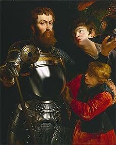 Peter Paul Rubens (guerrero con dos páginas, c, 1614/16) Lienzo decorativo de (21,7 x 17,2 en) (55 x 43,7 cm)