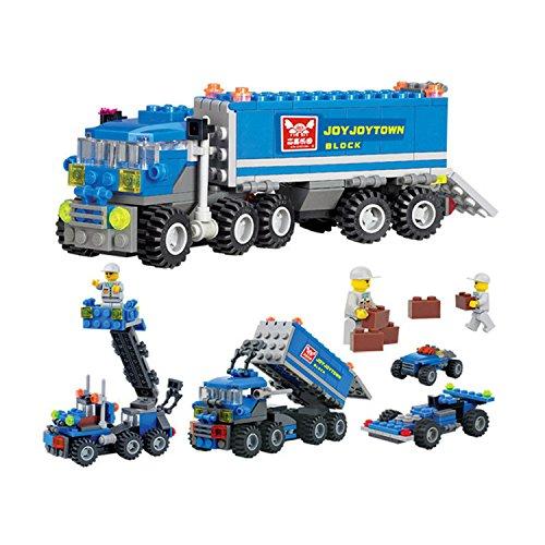 163pcs DIY Transport Dumper Truck Assemble Toys Small Particles Building Blocks Educational