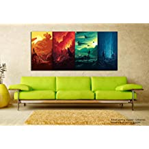 Tamatina Modern Art Canvas Paintings - Star Wars - Movie Canvas paintings - Large painting - 5 ft x 2.5 ft.(152 x 76 cms) - Paintings for Living room - Paintings for Bedroom - Abstract Wall Paintings.