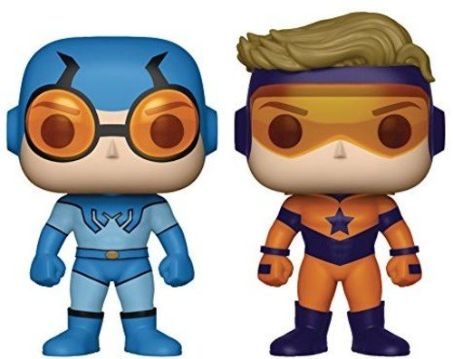 Funko Pop DC Heroes Booster Beetle Vinyl Figure 2-Pack, - League Dc Booster Justice