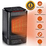 MroTech 950W Ceramic Space Heater, Portable Oscillating Electric Heater with Overheating Protection&Adjustable Heating&Carrying Handle,3 Wind Modes,Quiet,Perfect for Home&Office Use