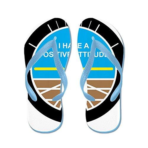 CafePress I Have A Positive Attitude - Flip Flops, Funny Thong Sandals, Beach Sandals Caribbean Blue