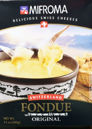 14oz Mifroma Swiss Cheese Fondue Original, Heat & Serve, Ready Made (1 Box)