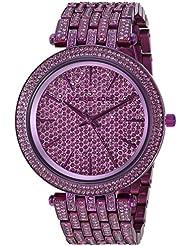 Michael Kors Womens Darci Quartz Stainless Steel Casual Watch, Color:Purple (Model: MK3782)