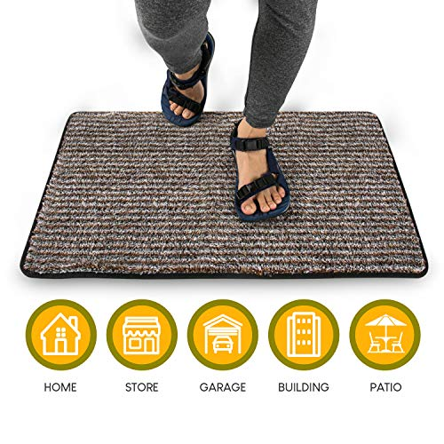 Front Door Mat for Indoor Outdoor Entry Rug | 18''x 30'' Non Slip Floor Mat | Welcome Mat for Entrance or Dog | Low Profile with Binding to Prevent Fraying ()