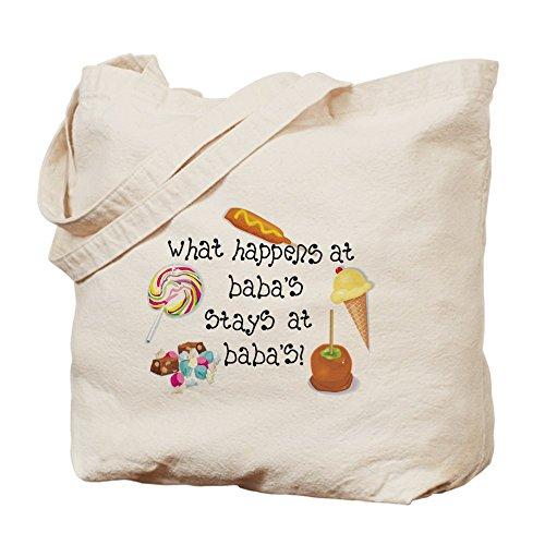 CafePress–lo que sucede en la... de Baba–Gamuza de bolsa de lona bolsa, bolsa de la compra