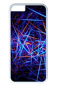 Color Line Black Background Custom iphone 6 plus 5.5 inch Case Cover Polycarbonate White