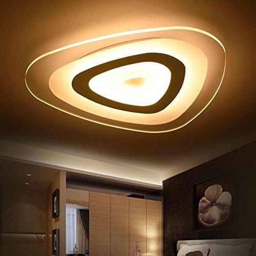 ZHENWOFC 48Wモダンな超薄型LEDフラッシュマウント天井照明3色居間のホームのために調節可能 3 Adjustable B07Q15Y1NC 3 Adjustable