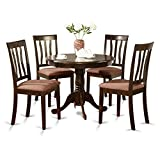 East West Furniture ANTI5-CAP-C 5-Piece Kitchen Table Set, Cappuccino Finish Review