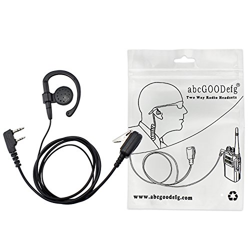 abcGOODefg 2Way Radio Headset 2-Pin ear-clipAuricular para K
