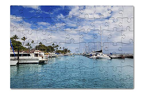 Lahaina, West Maui, Hawaii - Boats in Harbor - Photography A-96070 96070 (8x12 Premium Acrylic Puzzle, 63 Pieces) ()