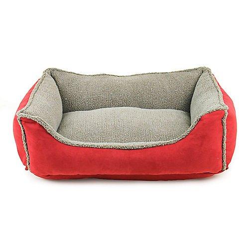 - Carolina Pet Faux Suede/Berber Red Comfy Cup Dog Bed Medium