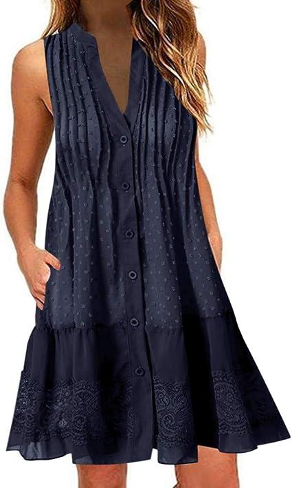 Vestidos Cortos Playa Mujer SUNNSEAN Vestidos Casual Tallas ...