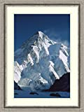 Framed Art Print 'K2 at dawn, from camp below Broad Peak, Godwin Austen Glacier, Pakistan' by Colin Monteath