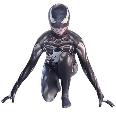 BGHKFF Venom Spiderman Disfraz NiñO Adulto Cosplay Ropa De ...