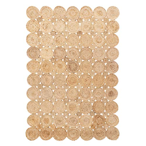 YYATT Modern Hand-Woven Floor mat Jute Area Rug American Country Living Room Bedroom Carpet for entryway and Bedroom Home Decorate-A 60x90cm(24x35inch)