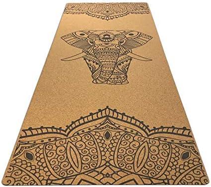 Yoga mat 快適なコルクエクササイズフィットネスマット健康と耐久性フィットネスラバーマット workout