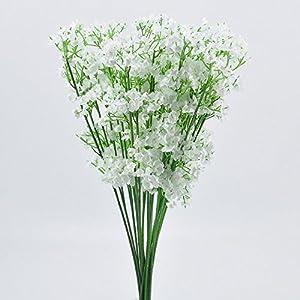 Artificial & Dried Flowers - 1 Bouquet Gypsophila Floral Artificial Fake Silk Flower Plant Home Decor - Vine Vines Decorations Long Centerpieces Daisy Lavender Hanging Marigolds Mint Hyacinth H 6