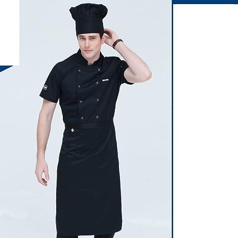 JX&BOOS Grembiule cuoco,Uomini manica corta estate hotel