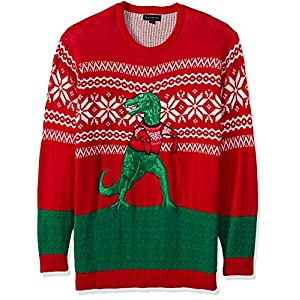 Blizzard Bay Men's Arms Too Short T-rex Ugly Christmas Sweater