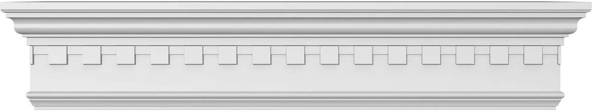 Ekena Millwork CRH06X26 Crosshead 26 Bottom Width x 29 1//2 Top Width Factory Primed White