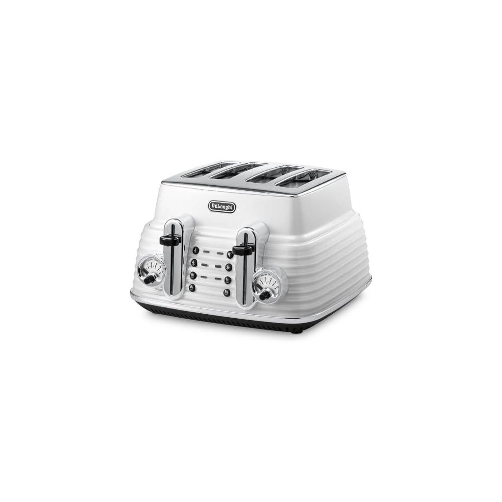 Delonghi White Scultura Toaster