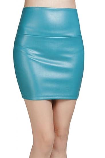 Lotus Instyle de Piel sintética Piel Mini Falda Pantalones Cortos ...