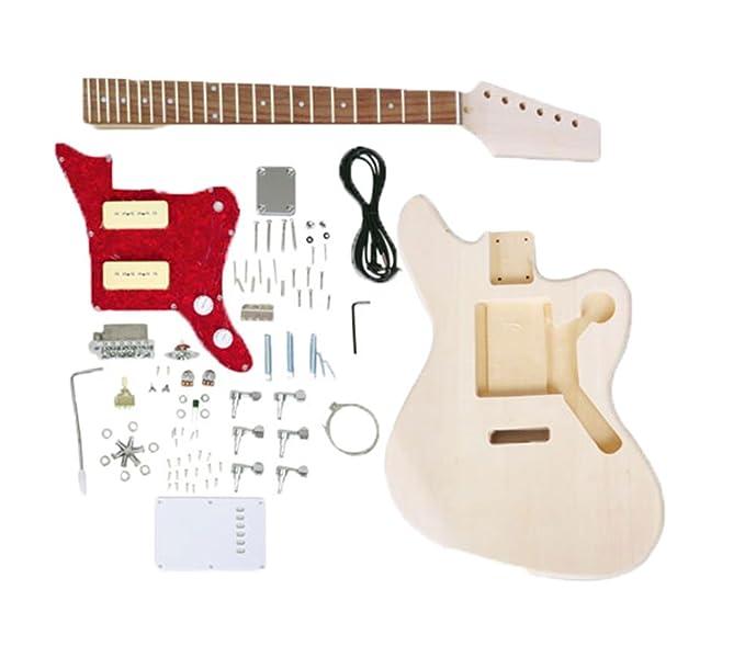 Kobwa (TM) DIY Cuerpo de Tilo P90 pastillas de guitarra eléctrica sin terminar Kit (color de madera) con Kobwa llavero: Amazon.es: Instrumentos musicales