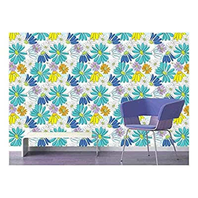 Magnificent Expertise, Created Just For You, Large Wall Mural Seamless Floral Pattern Vinyl Wallpaper Removable Decorating