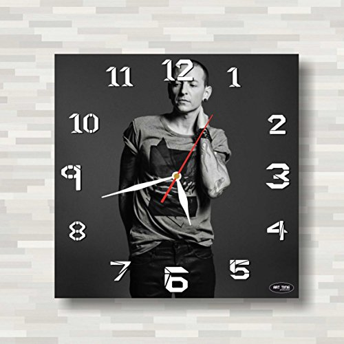 Bennington Clock (Art time production Linkin Park- Chester Charles Bennington 11'' Handmade Wall Clock - Get unique décor home office – Best gift ideas kids, friends, parents your soul mates)