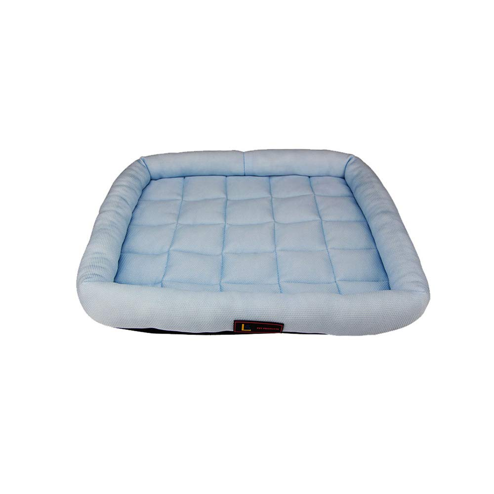 bluee X-Large bluee X-Large YQQ Winter Pet Nest Kennel Cat Nest Sleeping Pad Washable Fiber Fabric (color   bluee, Size   Xl)